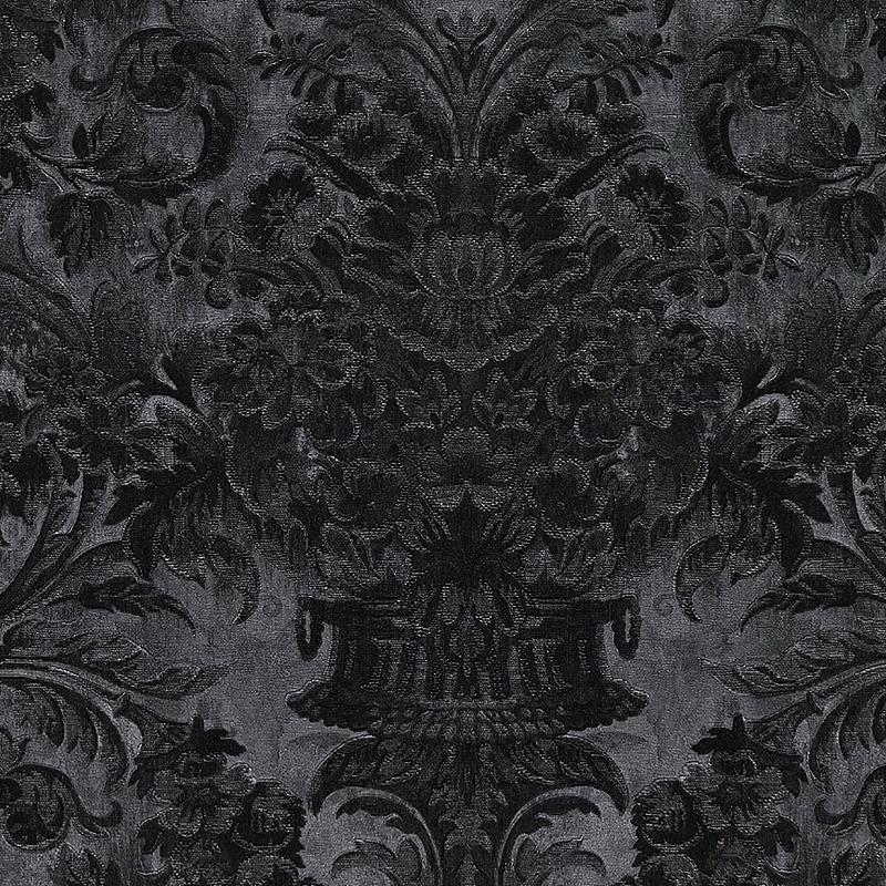 Обои Limonta Heritage 34108 Винил на флизелине (0,7*10,05) Серый/Черный, Орнамент/Вензель/Цветы