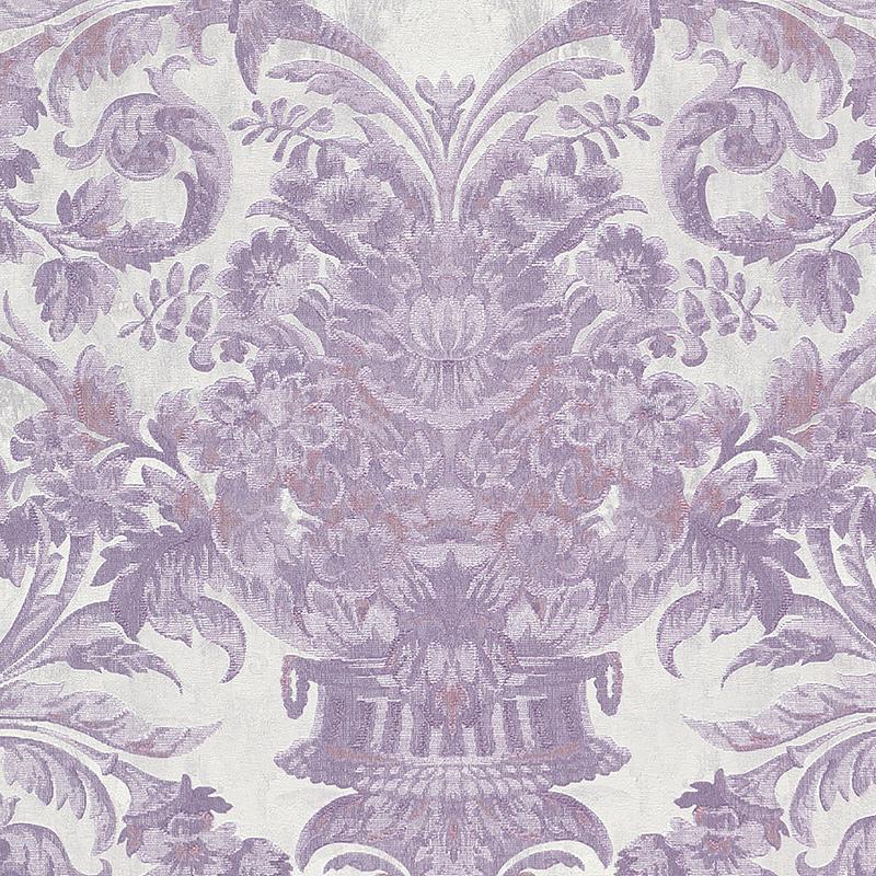 Обои Limonta Heritage 34109 Винил на флизелине (0,7*10,05) Сиреневый/Белый, Орнамент/Вензель/Цветы