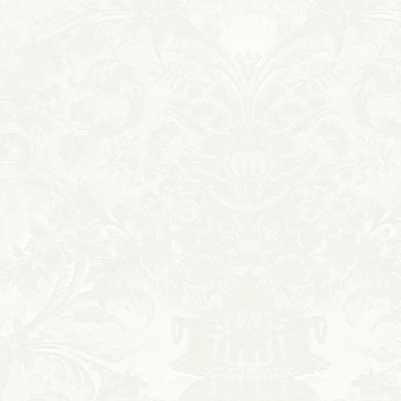 Обои Limonta Heritage 34111 Винил на флизелине (0,7*10,05) Серый/Белый, Орнамент/Вензель/Цветы