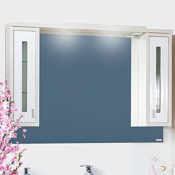 Зеркальный шкаф Бриклаер Бали 120 с подсветкой Светлая лиственница/Белый глянец зеркальный шкаф бриклаер бали 120 с подсветкой светлая лиственница белый глянец