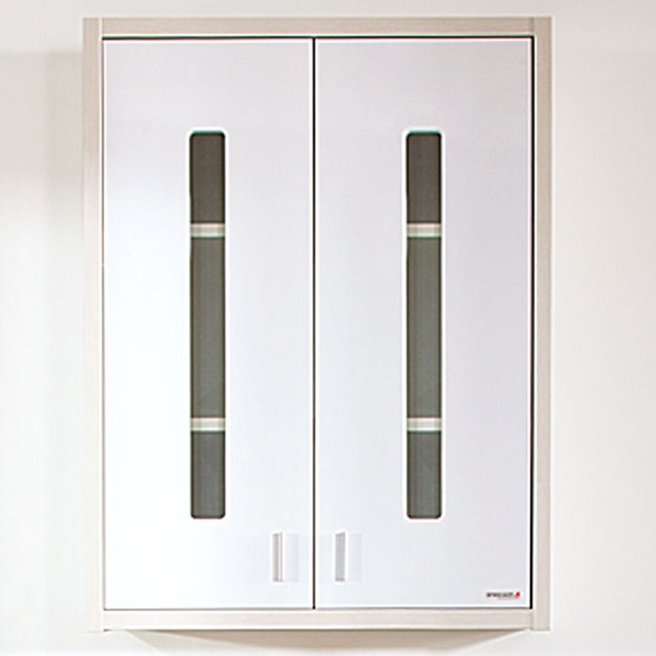 Подвесной шкаф Бриклаер Бали 60 Светлая лиственница/Белый глянец зеркальный шкаф бриклаер бали 120 с подсветкой светлая лиственница белый глянец