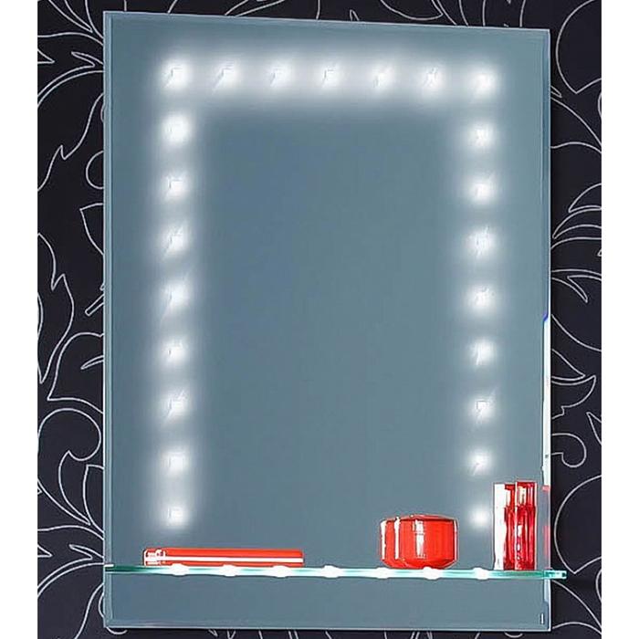 Сиэтл 60 Белое сереброМебель для ванной<br>Зеркало с нижней полочкой Сиэтл 60. Размер:600х800х140 мм.<br>