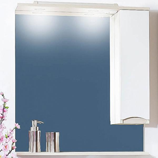 Зеркальный шкаф Бриклаер Токио 70 с подсветкой Светлая лиственница/Белый глянец R зеркальный шкаф бриклаер бали 120 с подсветкой светлая лиственница белый глянец