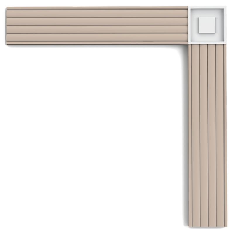 Декоративный элемент Orac Decor P5020B 90x13x90 мм
