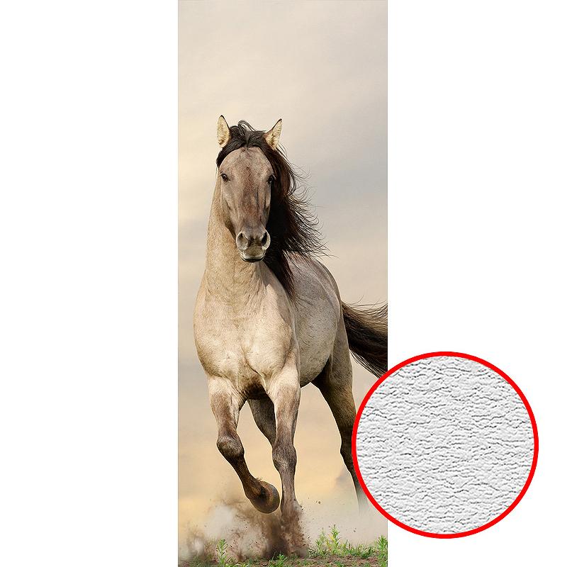Фотообои Divino A-087 Фактура песок Винил на флизелине (1*2,7) Бежевый, Животные