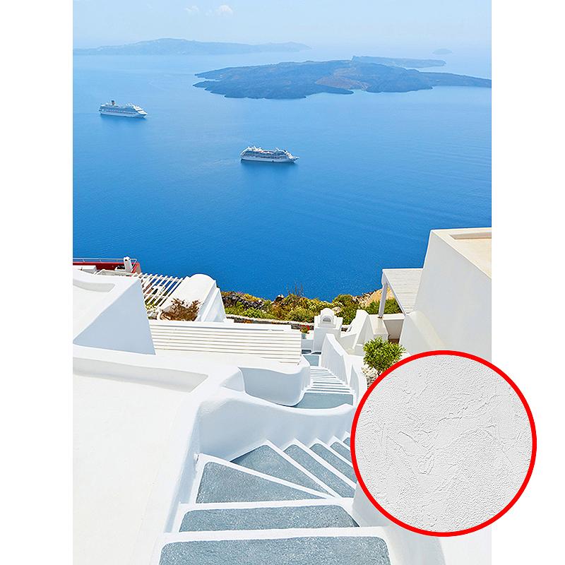 Фотообои Divino B-071 Фактура живопись Винил на флизелине (2*2,7) Белый/Синий, Море/Пейзаж