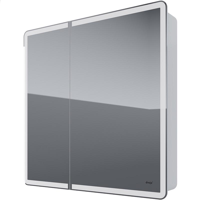 зеркальный шкаф dreja uni 99 9001 Зеркальный шкаф Dreja Point 80 99.9034 с подсветкой Белый с инфракрасным выключателем