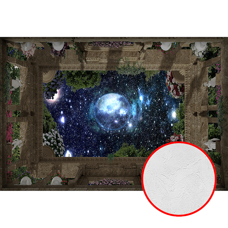 Фотообои Divino P-071 Фактура живопись Винил на флизелине (4*2,7) Разноцветный, Пейзаж/Космос