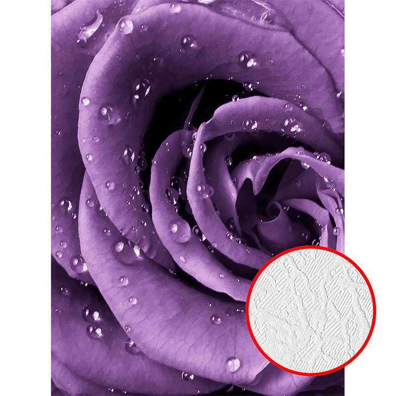 Фотообои Divino A-097 Фактура фреска Винил на флизелине (2*2,7) Фиолетовый, Цветы