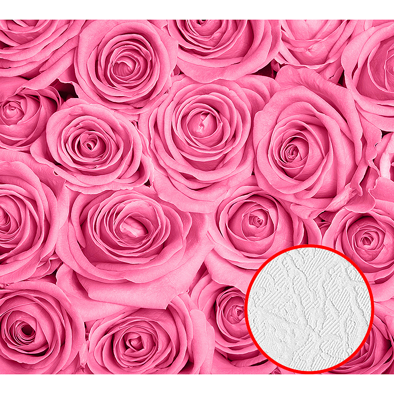 Фотообои Divino B-092 Фактура фреска Винил на флизелине (3*2,7) Розовый, Цветы