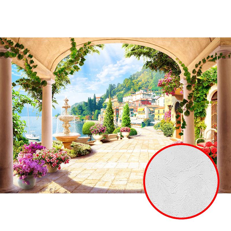 Фотообои Divino P-016 Фактура живопись Винил на флизелине (4*2,7) Разноцветный, Пейзаж