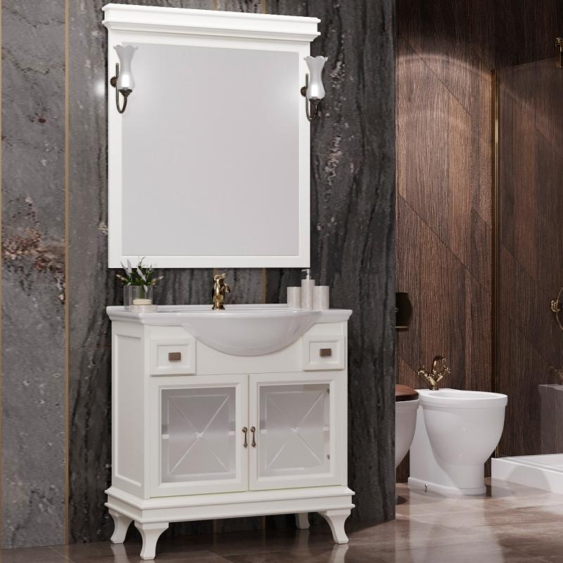 Комплект мебели для ванной Opadiris Борджи 85 Слоновая кость