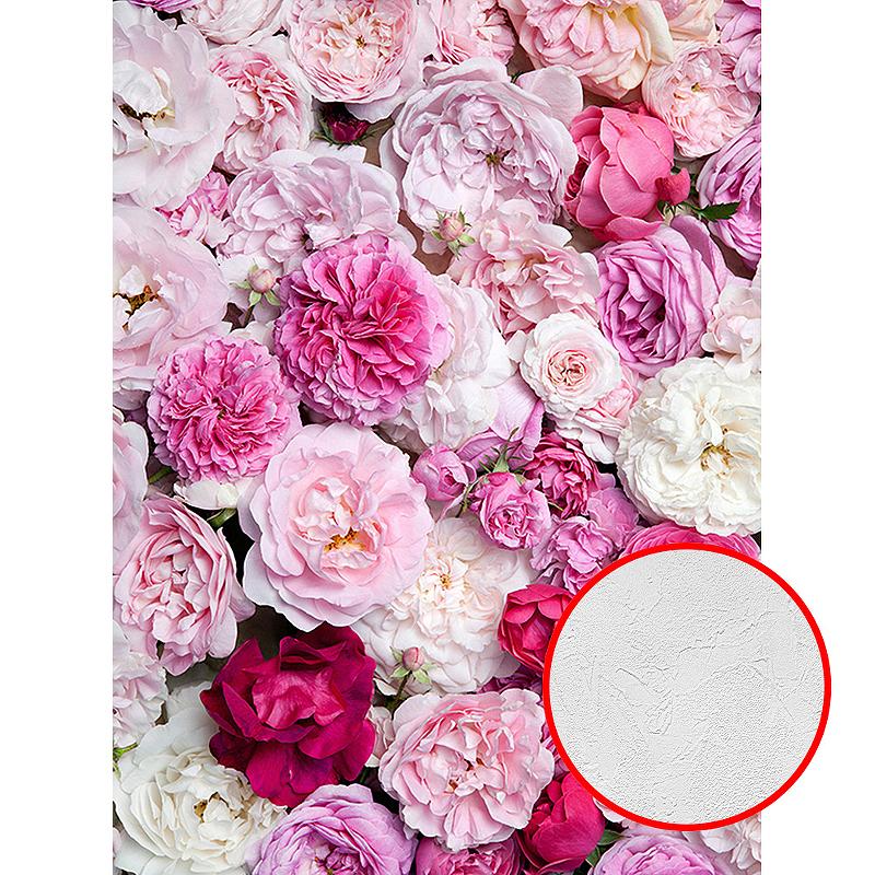 Фотообои Divino B-087 Фактура живопись Винил на флизелине (2*2,7) Розовый/Разноцветный, Цветы
