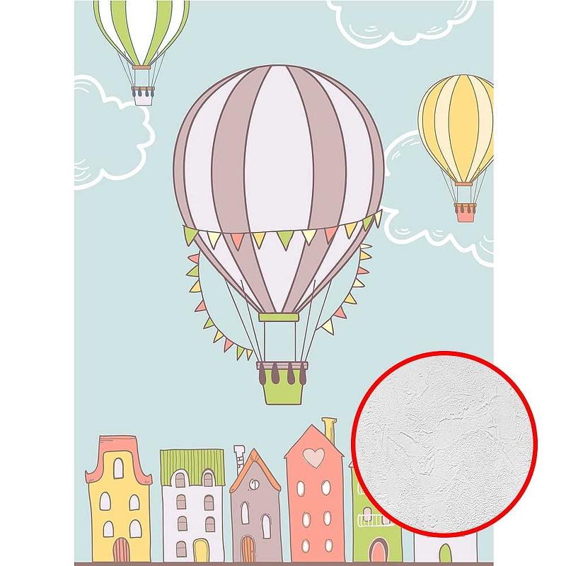 Фотообои детские Divino T-256 Фактура живопись Винил на флизелине (2*2,7) Разноцветный, Воздушные шары
