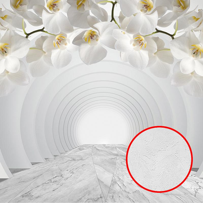 Фотообои Divino P-106 Фактура живопись Винил на флизелине (4*2,7) Белый, Цветы