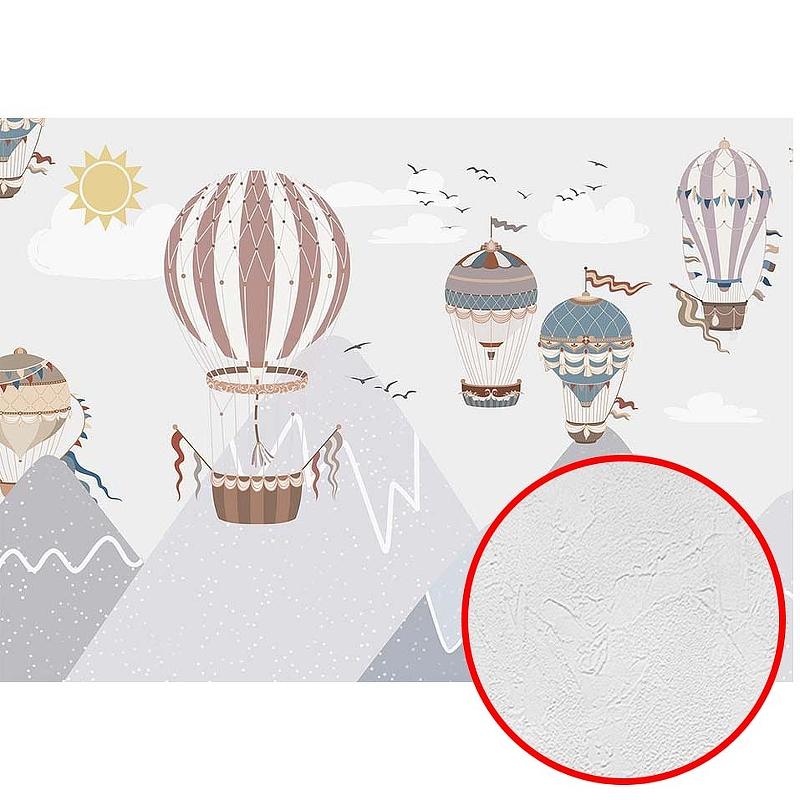 Фотообои детские Divino T-285 Фактура живопись Винил на флизелине (4*2,7) Разноцветный, Воздушные шары