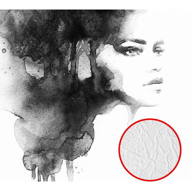 Фотообои Divino K-057 Фактура фреска Винил на флизелине (3*2,7) Черный/Белый, Люди