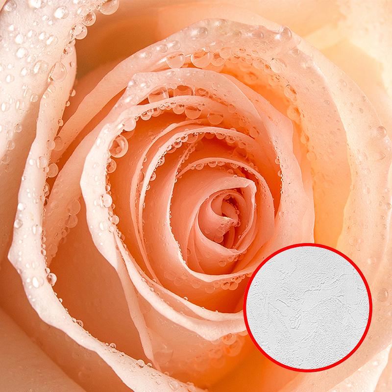 Фотообои Divino T-218 Фактура живопись Винил на флизелине (3*2,7) Розовый, Цветы недорого