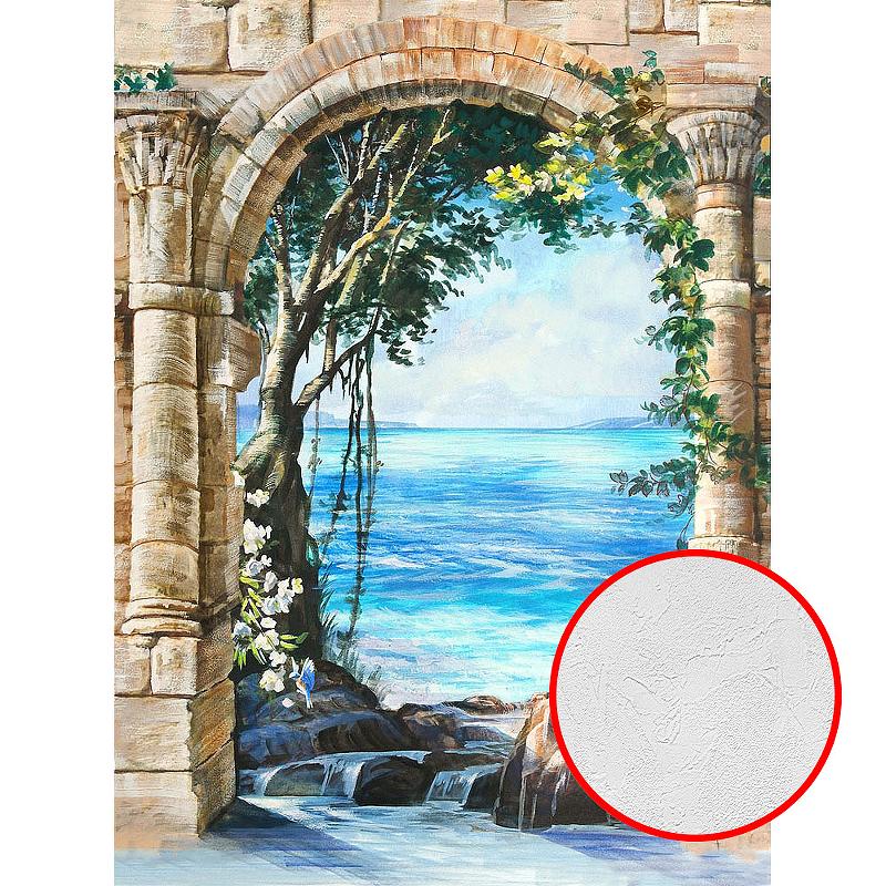 Фотообои Divino E-064 Фактура живопись Винил на флизелине (2*2,7) Разноцветный, Пейзаж
