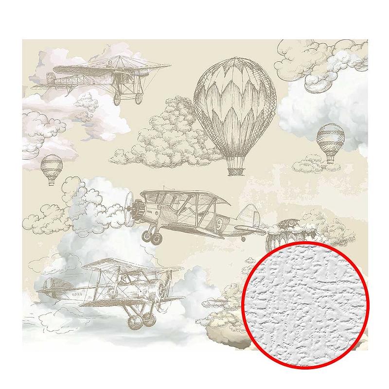 Фотообои Divino T-067 Фактура холст Винил на флизелине (3*2,7) Бежевый, Воздушные шары