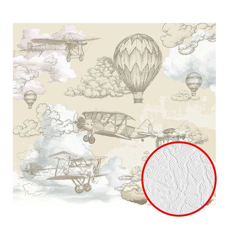 Фотообои Divino T-067 Фактура фреска Винил на флизелине (3*2,7) Бежевый, Воздушные шары