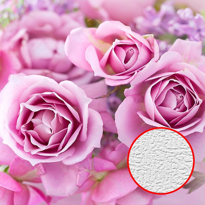 Фотообои Divino T-192 Фактура холст Винил на флизелине (3*2,7) Розовый, Цветы недорого