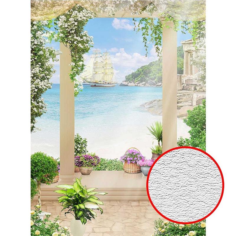 Фотообои Divino T-017 Фактура песок Винил на флизелине (2*2,7) Бежевый, Пейзаж