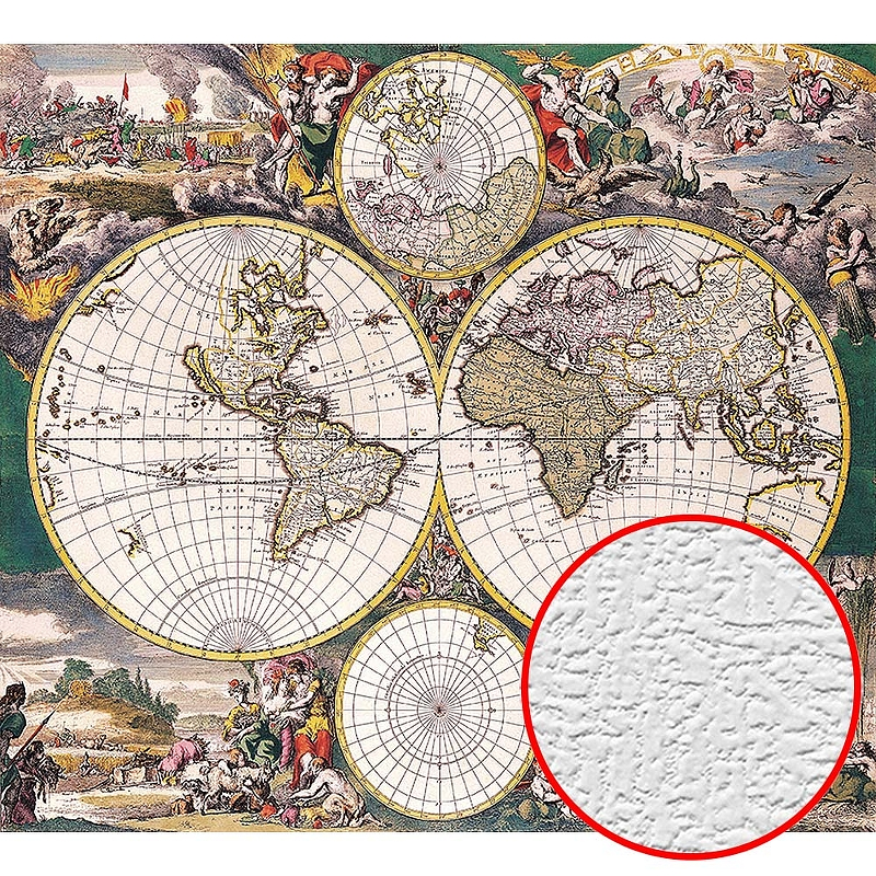 Фотообои Divino D-044 Фактура холст Винил на флизелине (3*2,7) Разноцветный, Карты