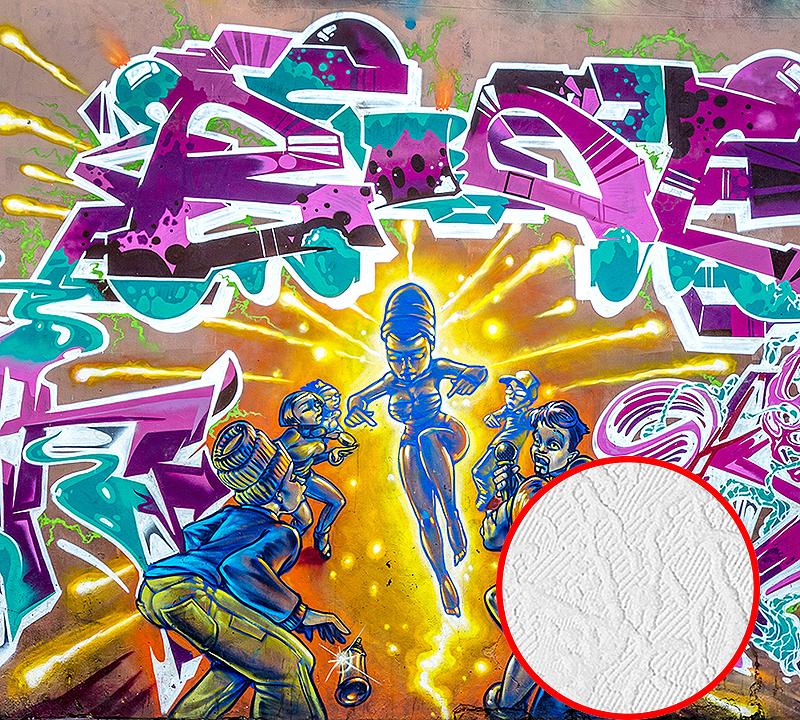 Фотообои Divino B-023 Фактура фреска Винил на флизелине (3*2,7) Разноцветный, Граффити