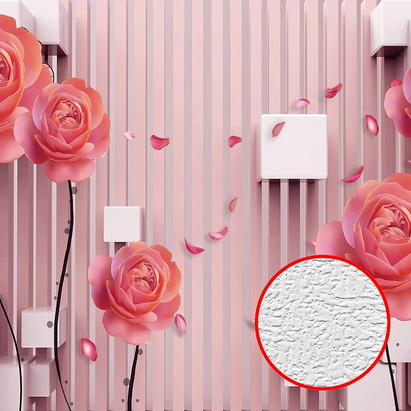 Фотообои Divino T-217 Фактура холст Винил на флизелине (4*2,7) Розовый, Цветы недорого