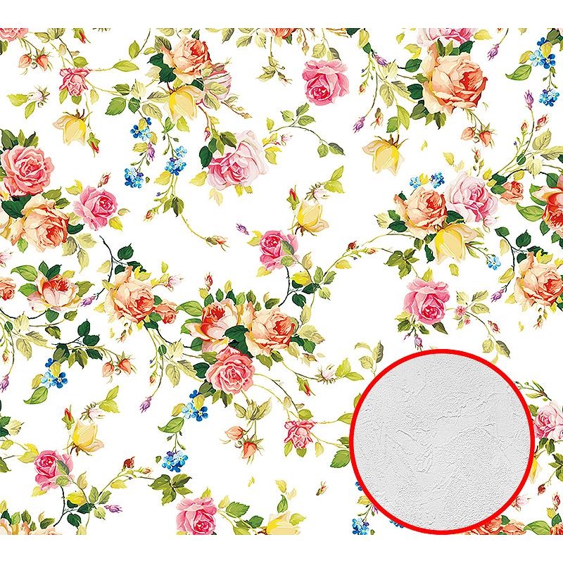 Фотообои Divino D-031 Фактура живопись Винил на флизелине (3*2,7) Разноцветный, Цветы