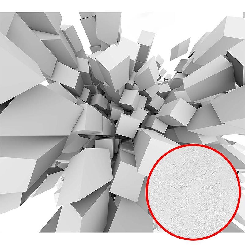 Фотообои Divino H-087 Фактура живопись Винил на флизелине (3*2,7) Серый/Белый, Абстракция