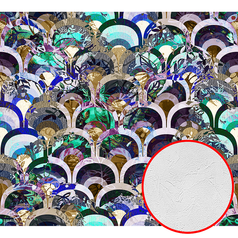 Фотообои Divino H-079 Фактура живопись Винил на флизелине (3*2,7) Разноцветный, Абстракция
