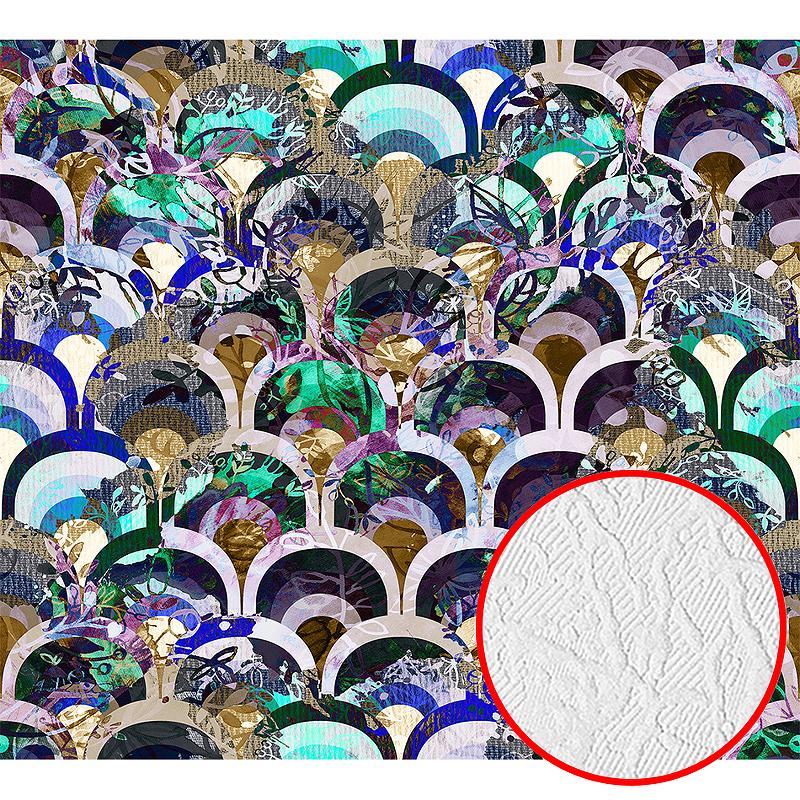 Фотообои Divino H-079 Фактура фреска Винил на флизелине (3*2,7) Разноцветный, Абстракция