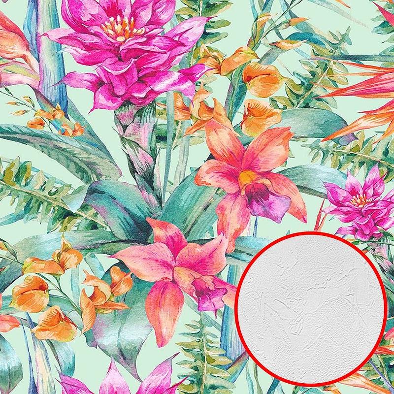 Фотообои Divino H-077 Фактура живопись Винил на флизелине (3*2,7) Разноцветный, Цветы