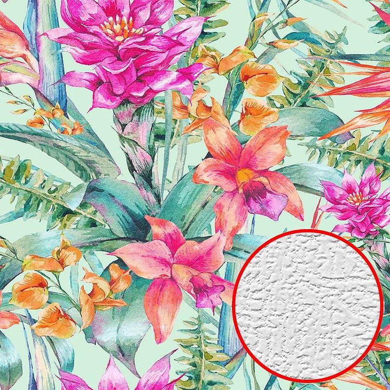 Фотообои Divino H-077 Фактура холст Винил на флизелине (3*2,7) Разноцветный, Цветы