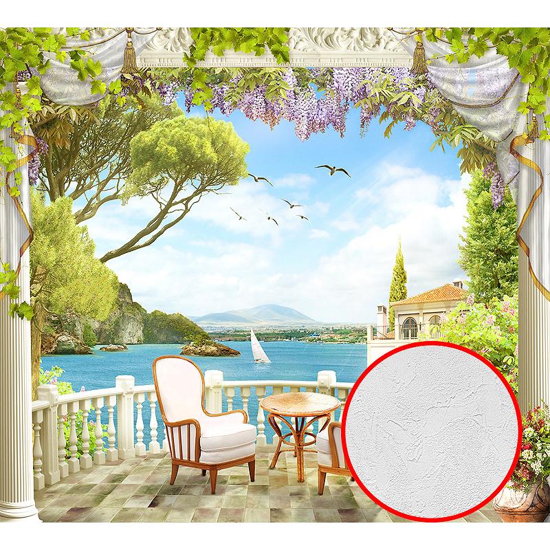 Фотообои Divino H-013 Фактура живопись Винил на флизелине (3*2,7) Разноцветный, Пейзаж