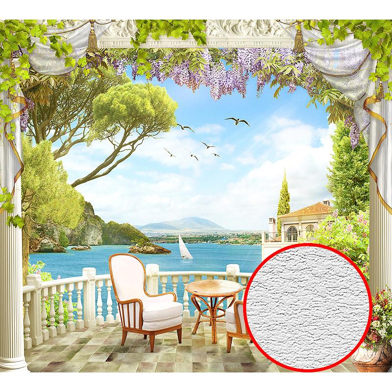 Фотообои Divino H-013 Фактура песок Винил на флизелине (3*2,7) Разноцветный, Пейзаж