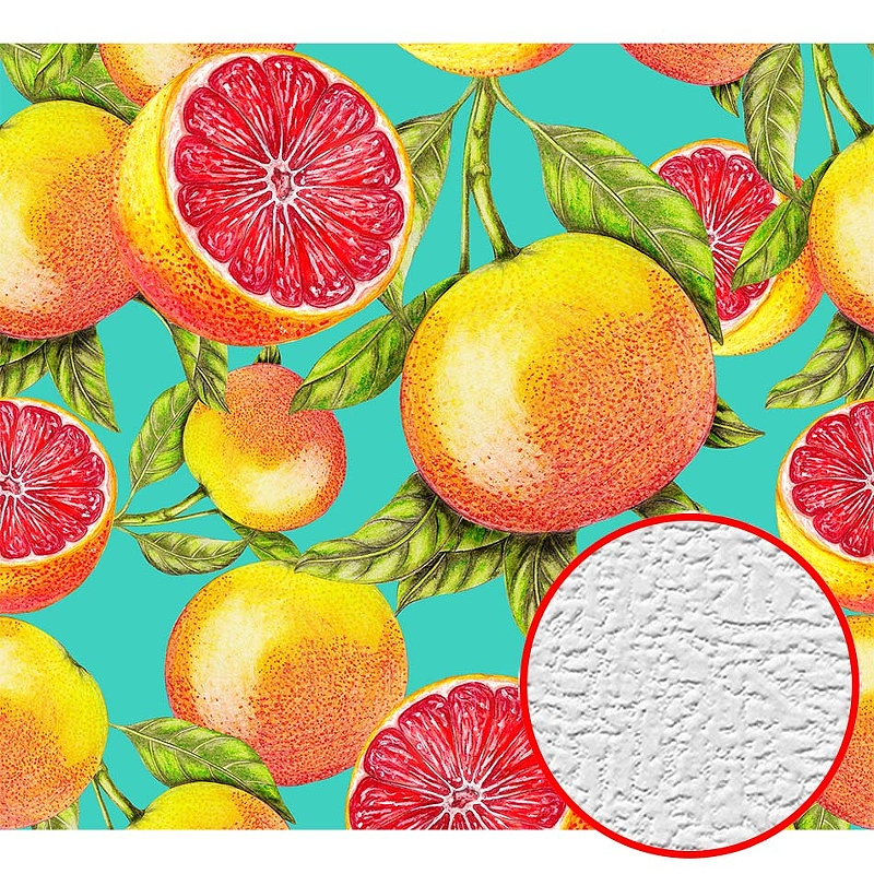 Фотообои Divino H-074 Фактура холст Винил на флизелине (3*2,7) Разноцветный, Фрукты