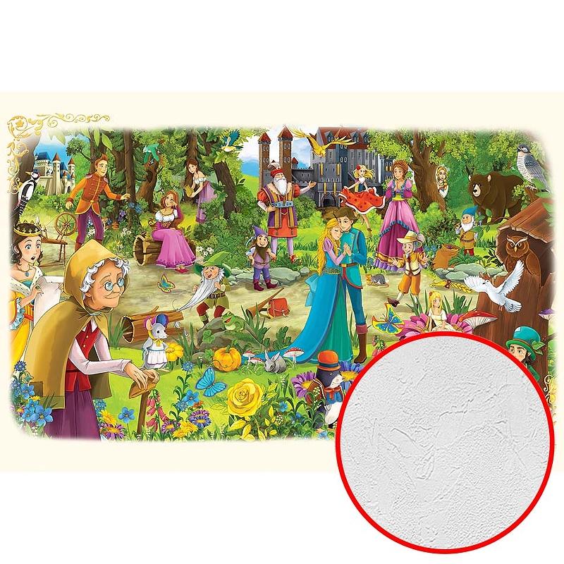 Фотообои детские Divino H-070 Фактура живопись Винил на флизелине (4*2,7) Разноцветный, Мультимедия