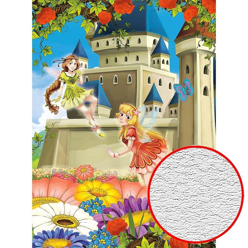 Фотообои детские Divino H-068 Фактура песок Винил на флизелине (2*2,7) Разноцветный, Мультимедия