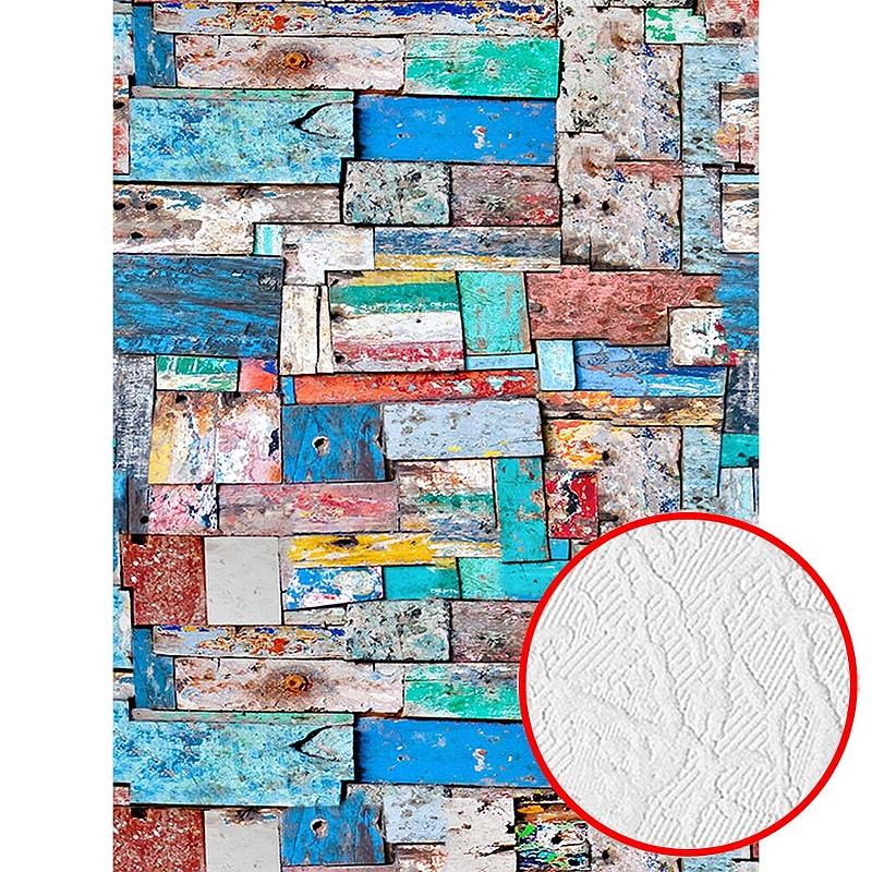 Фотообои Divino C-188 Фактура фреска Винил на флизелине (2*2,7) Разноцветный, Абстракция
