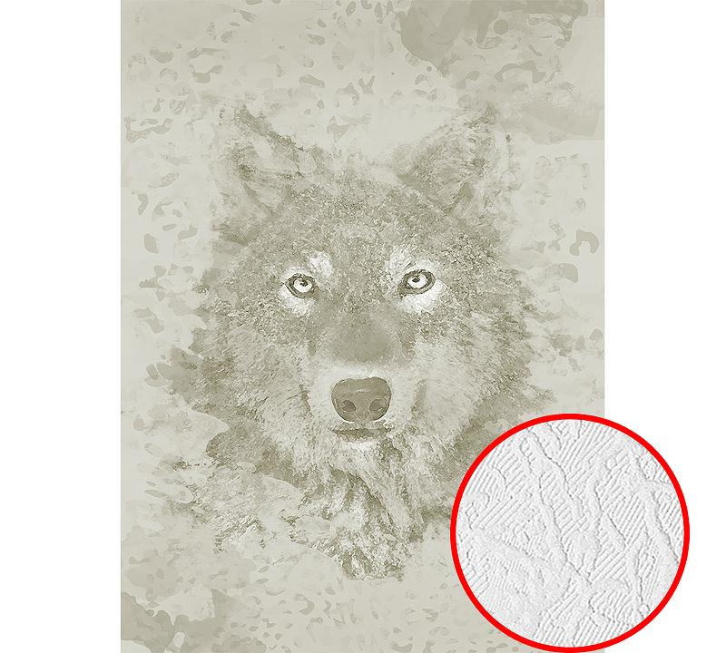Фотообои Divino H-035 Фактура фреска Винил на флизелине (2*2,7) Серый/Бежевый, Животные