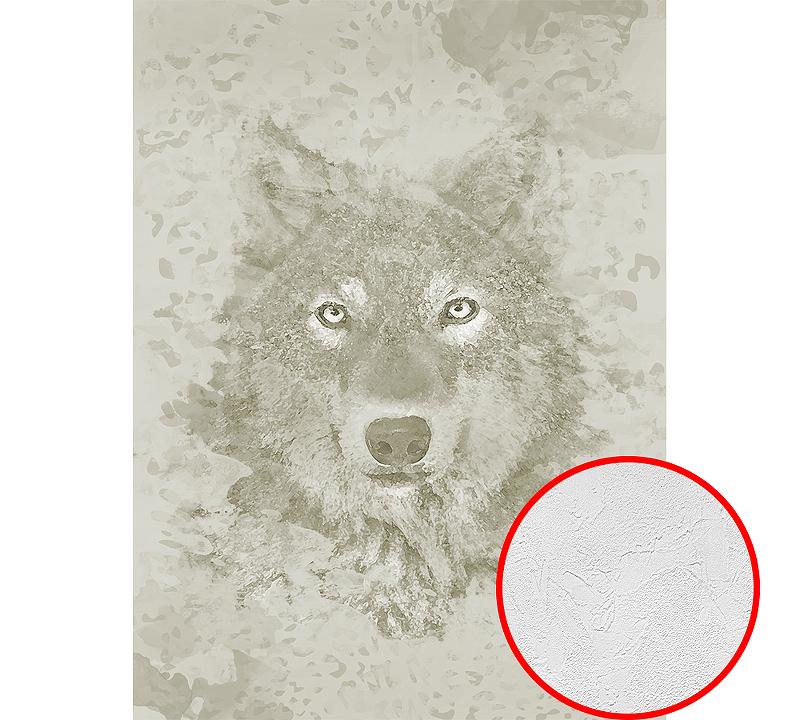 Фотообои Divino H-035 Фактура живопись Винил на флизелине (2*2,7) Серый/Бежевый, Животные