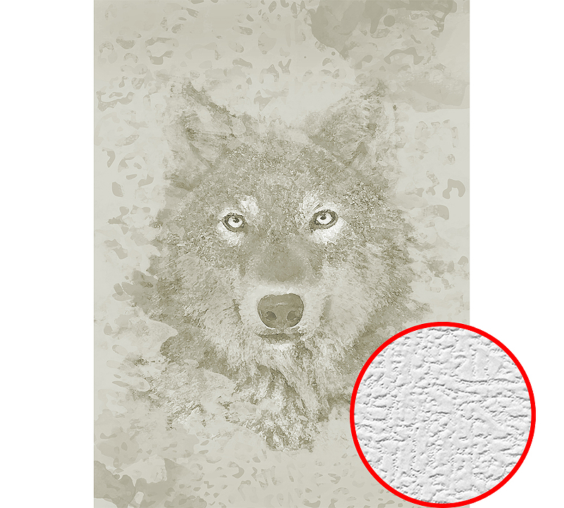 Фотообои Divino H-035 Фактура холст Винил на флизелине (2*2,7) Серый/Бежевый, Животные