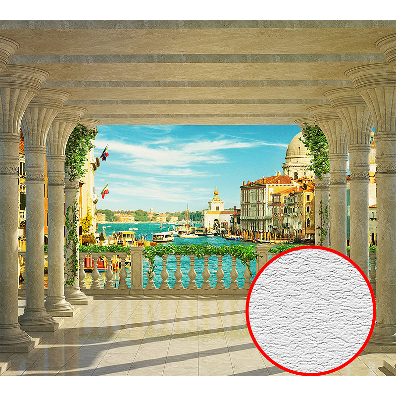 Фотообои Divino L-004 Фактура песок Винил на флизелине (3*2,7) Разноцветный, Пейзаж