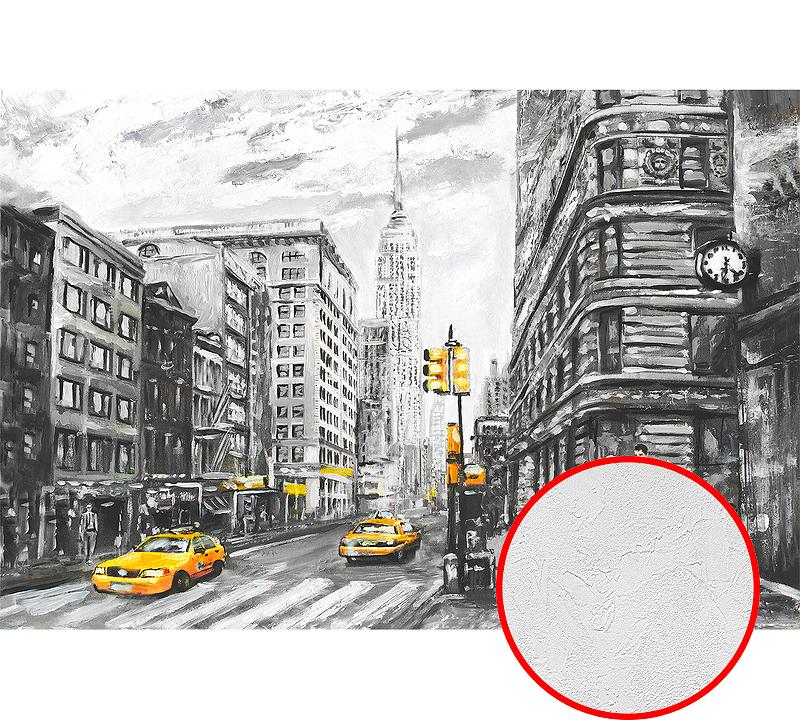 Фотообои Divino H-031 Фактура живопись Винил на флизелине (4*2,7) Серый/Желтый, Город