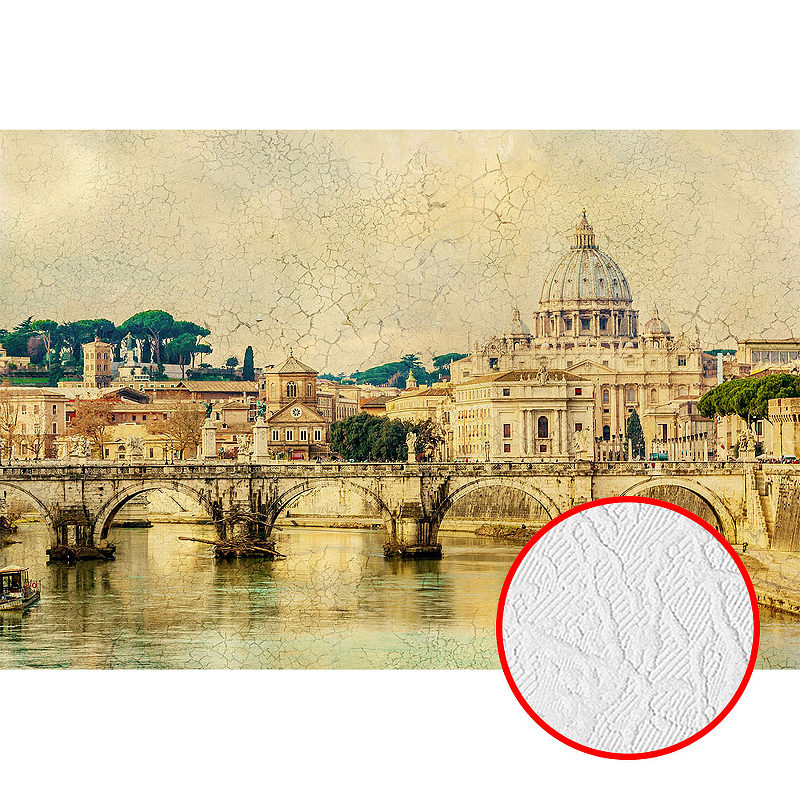 Фотообои Divino L-015 Фактура фреска Винил на флизелине (4*2,7) Бежевый, Мост