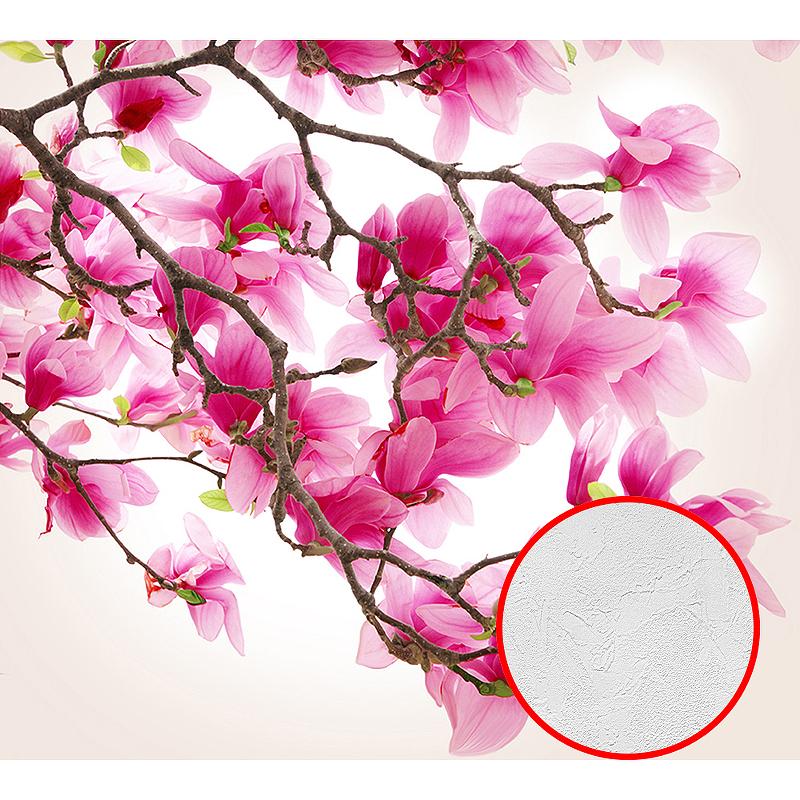 Фотообои Divino C-148 Фактура живопись Винил на флизелине (3*2,7) Розовый, Цветы