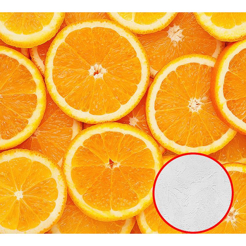 Фотообои Divino C-026 Фактура живопись Винил на флизелине (3*2,7) Оранжевый, Фрукты
